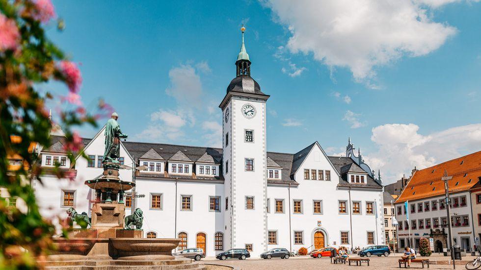 Der Obermarkt in Freiberg.