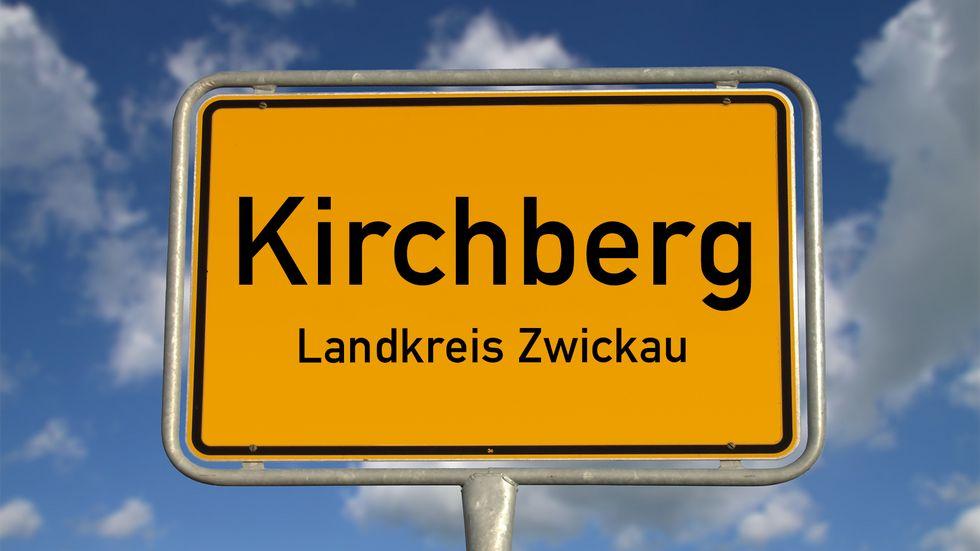 Das Ortseingangsschild von Kirchberg.
