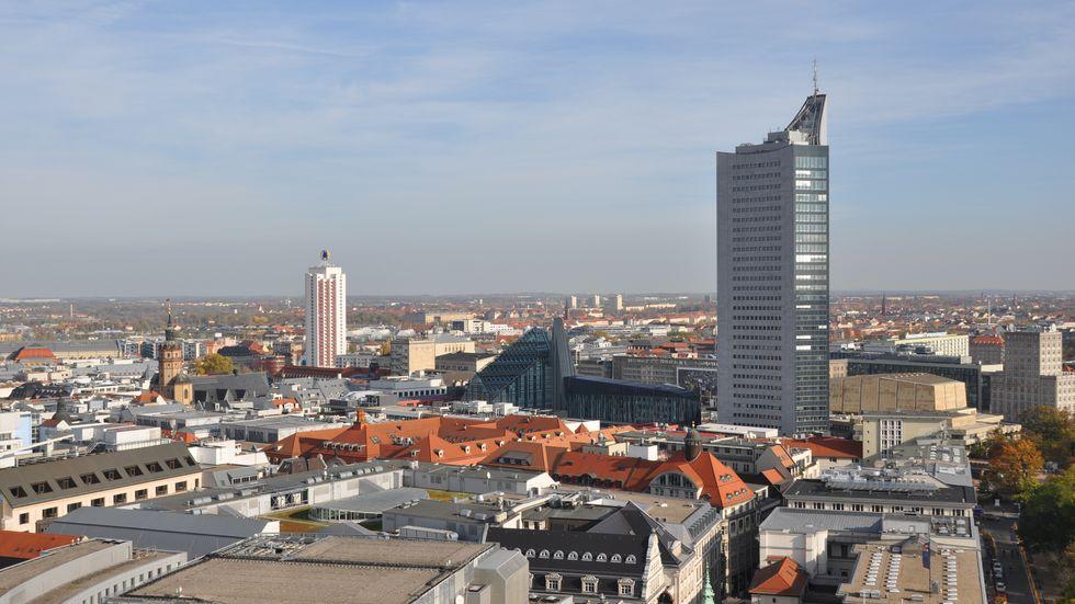 Panorama der Stadt Leipzig