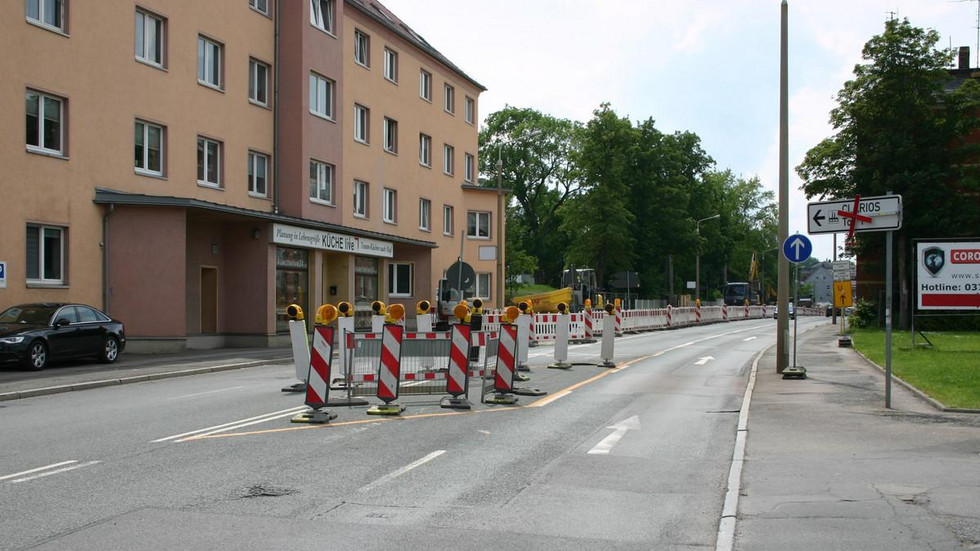 Nach der Einfahrt zur Ossietzkystraße ist ab Montag Schluss für Autofahrer.