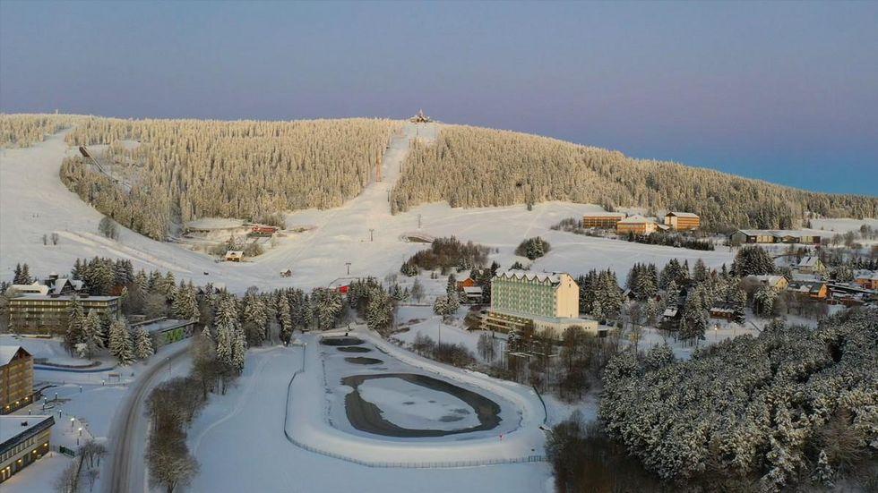 Schnee auf dem Fichtelberg/ Archiv