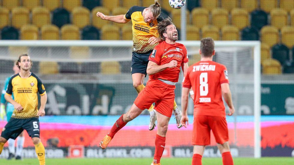 Der FSV Zwickau gewinnt das Sachsen-Derby gegen Dynamo Dresden mit 2:1