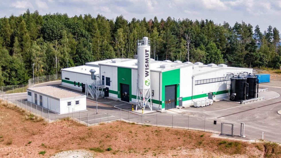 Die neue Anlage zur Wasserbehandlung in Helmsdorf