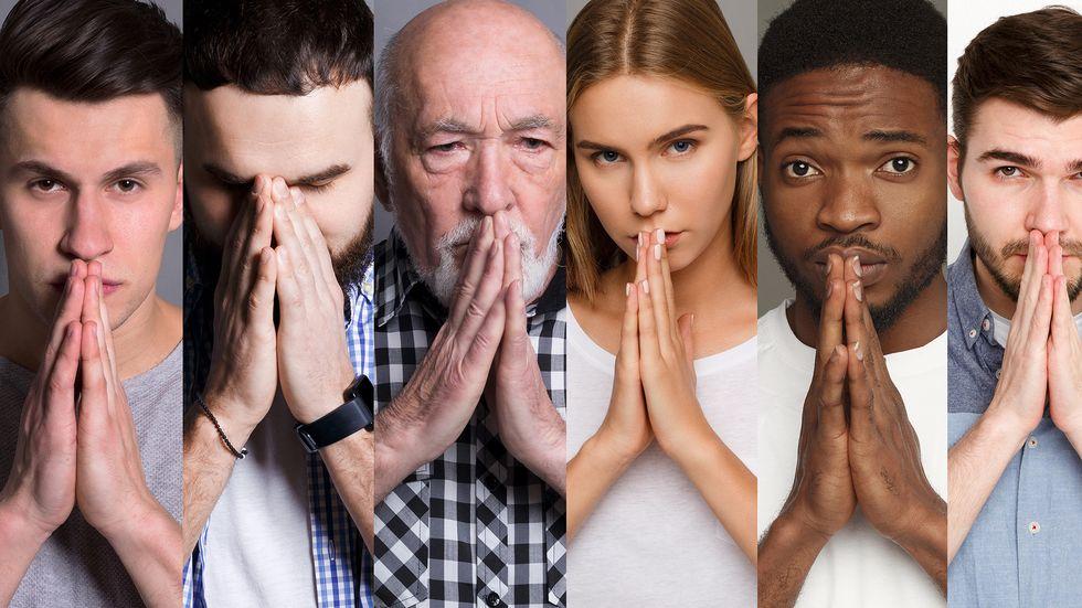 Betende Menschen
