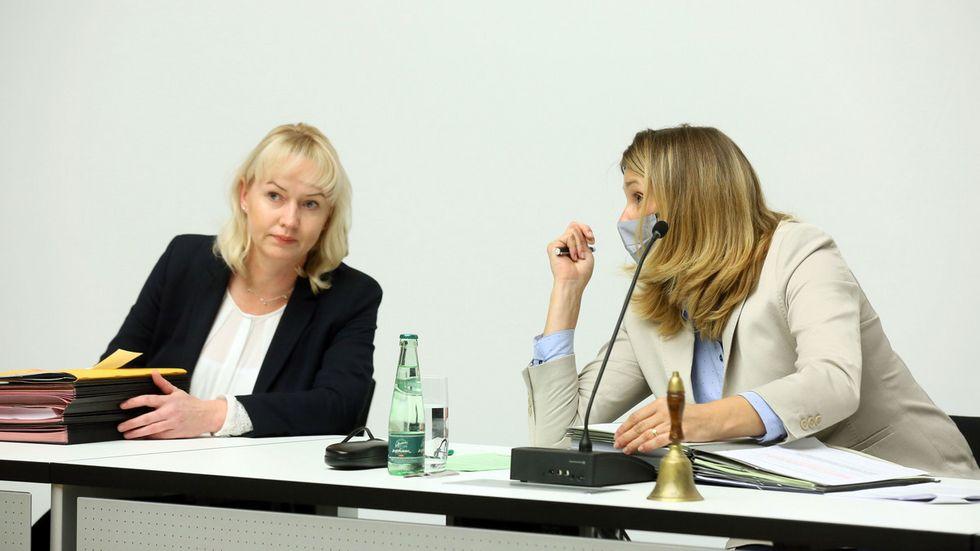 Die Amtszeit von Baubürgermeisterin Kathrin Köhler - hier links neben OB Constance Arndt - endet bald.