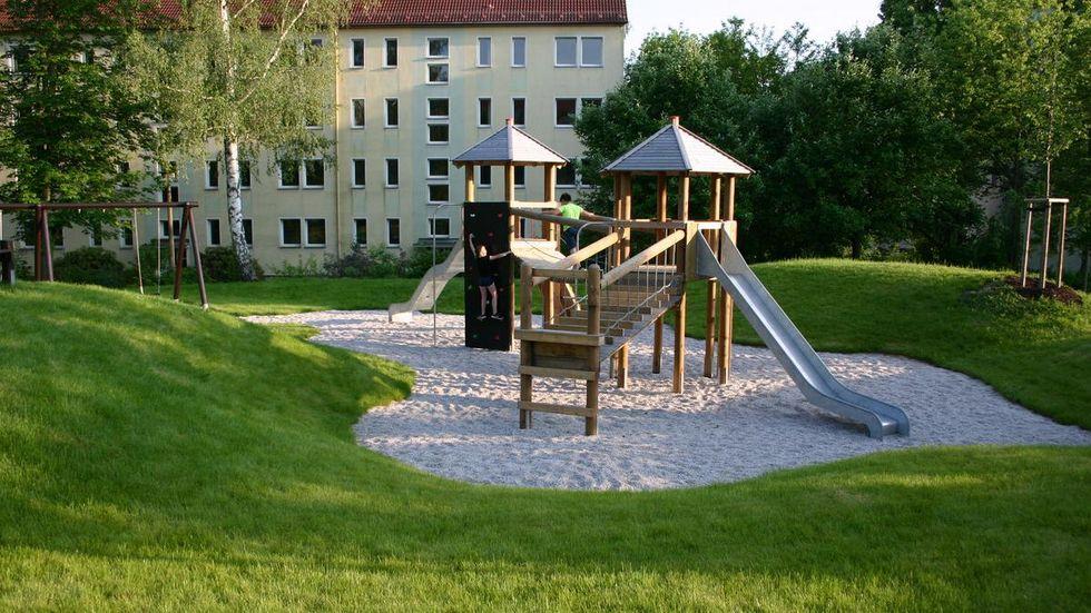 Der neue Spielplatz am Rotdornweg