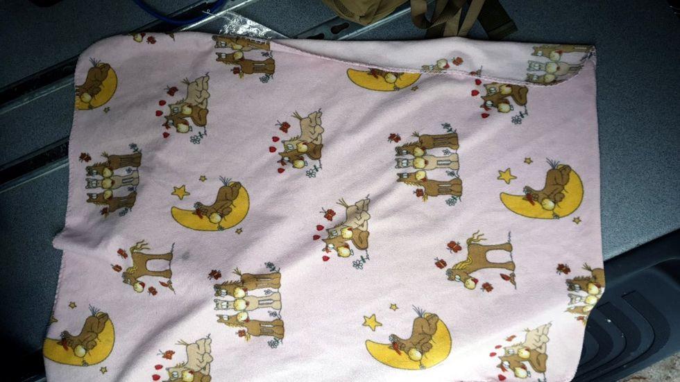 Diese Decke hatten die Kinder verloren.