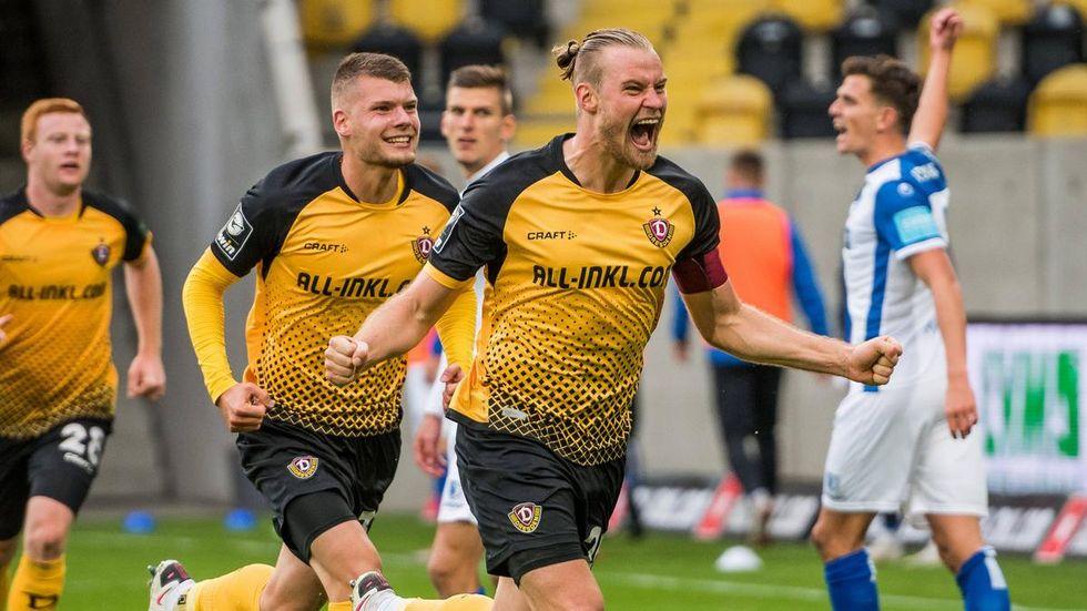 Dynamo-Kapitän Sebastian Mai kennt beide Vereine gut. © imago images/ dennis hetzschold