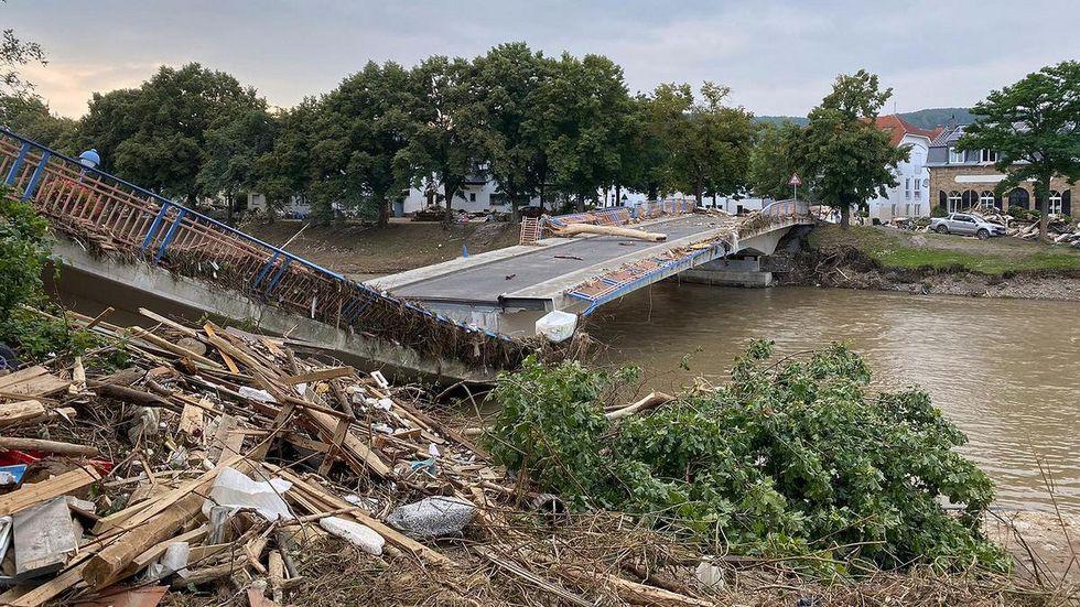 Zerstörte Brücke in Ahrweiler