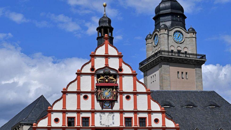 Das Rathaus in Plauen.