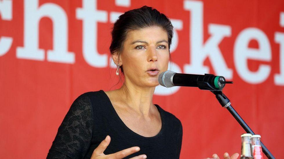 Sahra Wagenknecht bei einem Auftritt 2019 in Zwickau