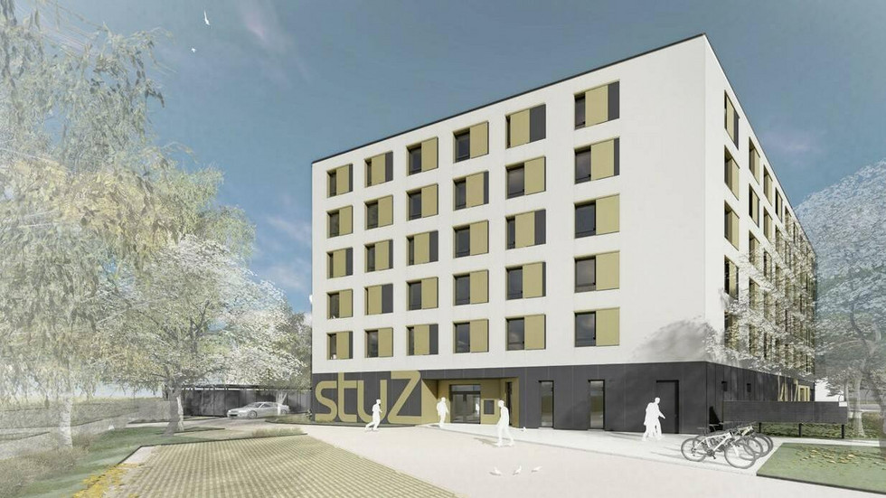 Visualisierung des neuen Studentenwohnheims