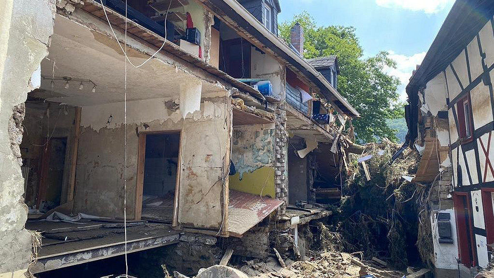 Zerstörte Häuser in Ahrweiler.