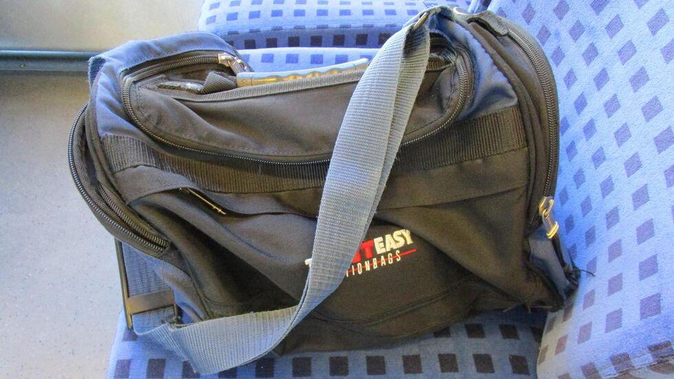 Diese Sporttasche wurde Höhe Crimmitschau in der S-Bahn gefunden. © Bundespolizei