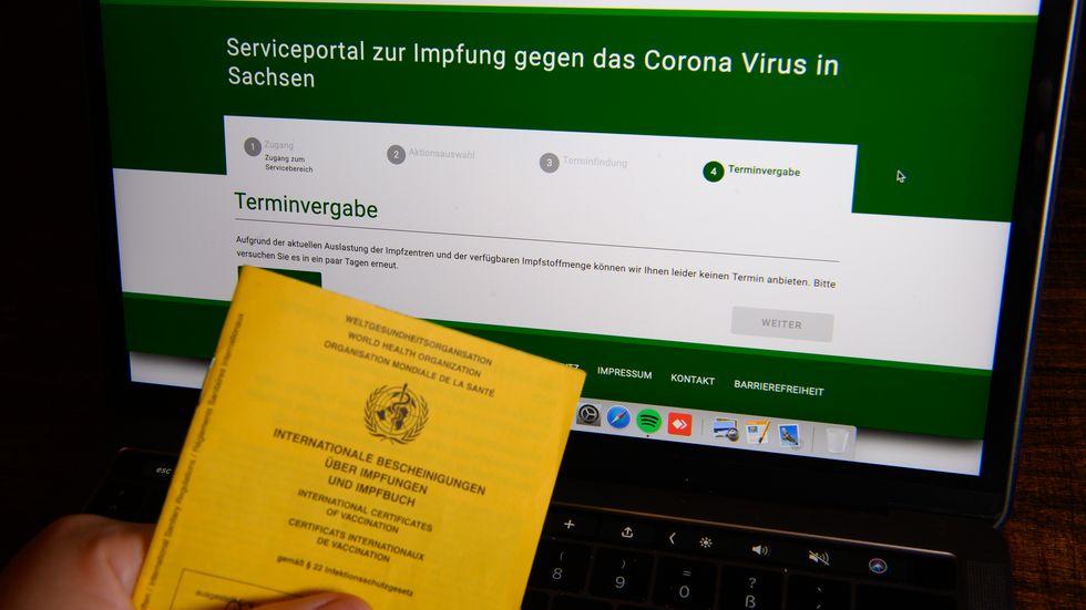 Impfportal des Freistaates Sachsen (Archivbild)