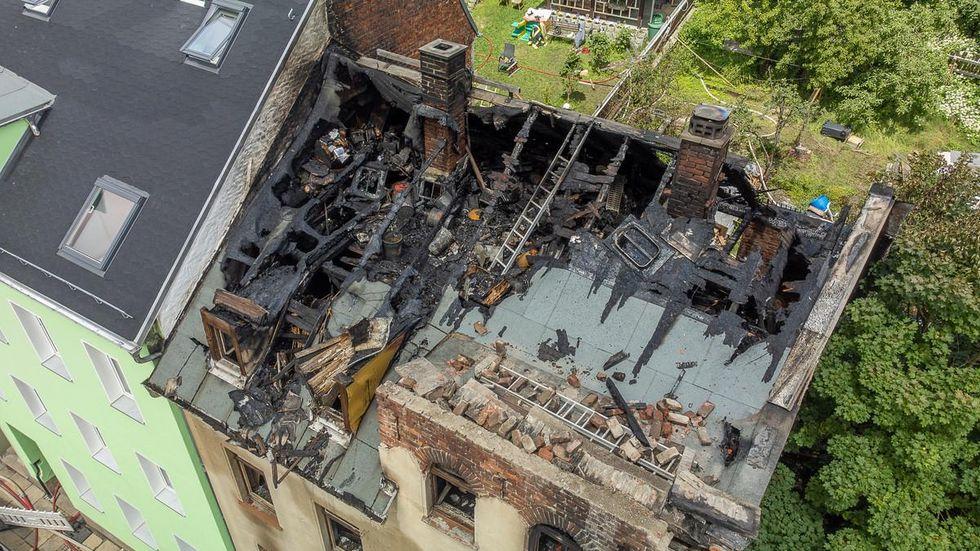 Das Haus am Tag nach dem Brand.