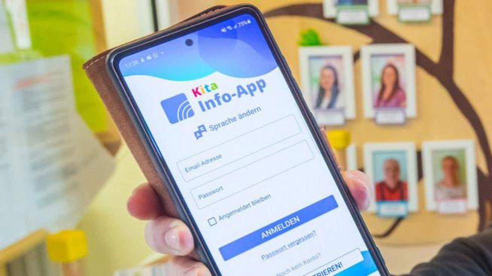 So sieht sie aus, die Info-App für Kitas.