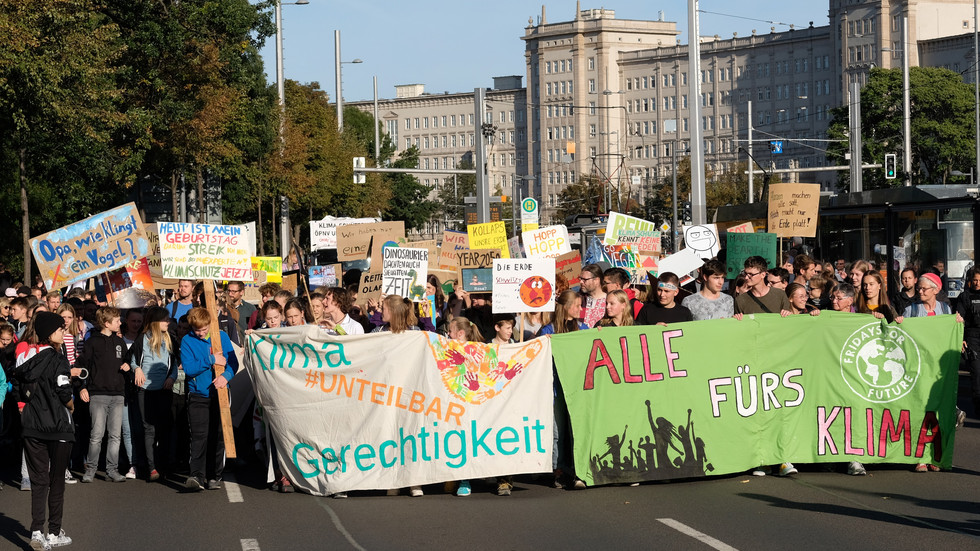 Fridays For Future-Demo in Leipzig
