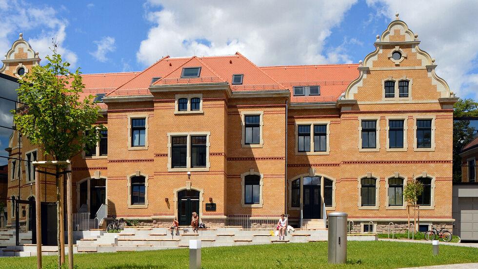Der Innenhof des Robert-Schumann-Konservatoriums